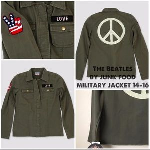 The Beatles by Junk Food Military Jacket: 14-16